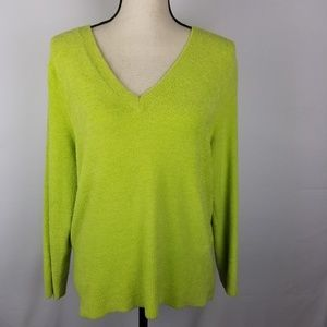 NWT Grace Elements Lime Green Chenille Swe…